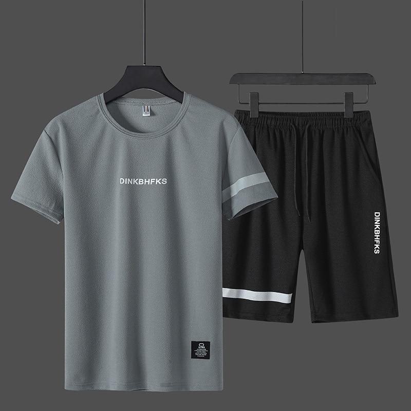 2019 Men's Short Sleeve Suit Shorts Men's Fashion Top T-shirt Half Sleeve Pants Men's Wear