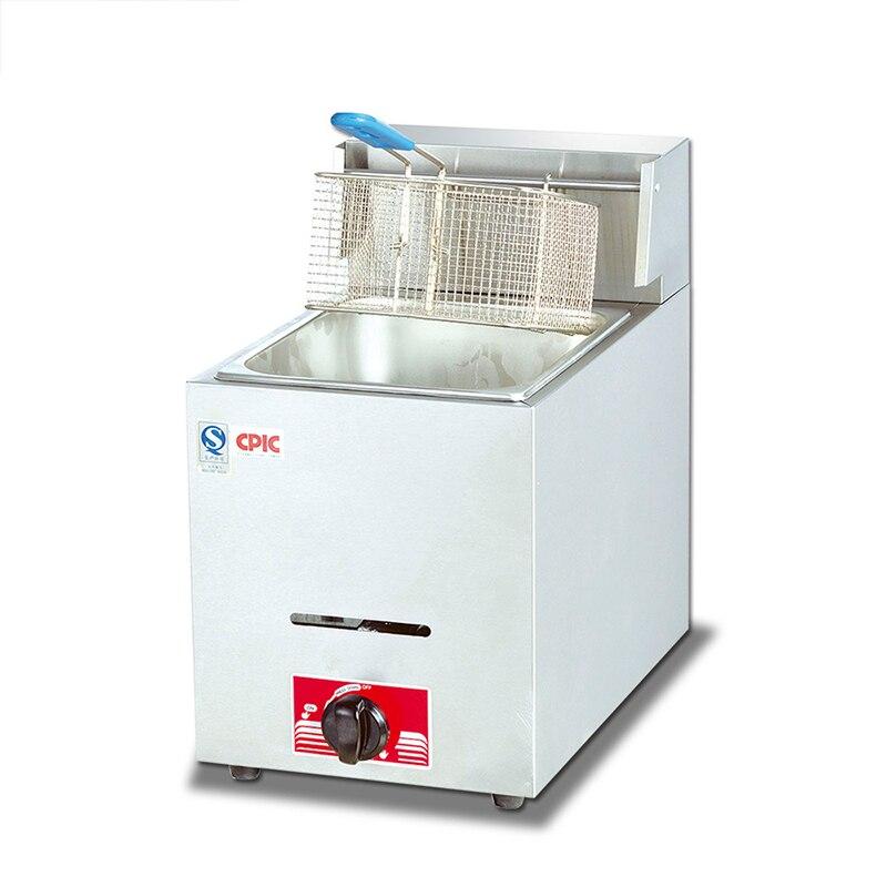 Friteuse de bureau gaz sans fumée monocylindre friteuse à écran unique pâte frite bâton de poulet frit frites Machine polyvalente
