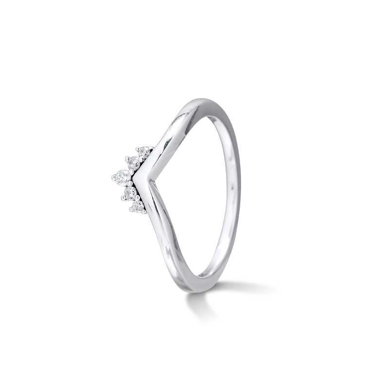 CKK Ring Tiara Wishbone Rings Women Anel Feminino 100% 925 Jewelry Sterling Silver Anillos Mujer Wedding Engagement Bagues Pour