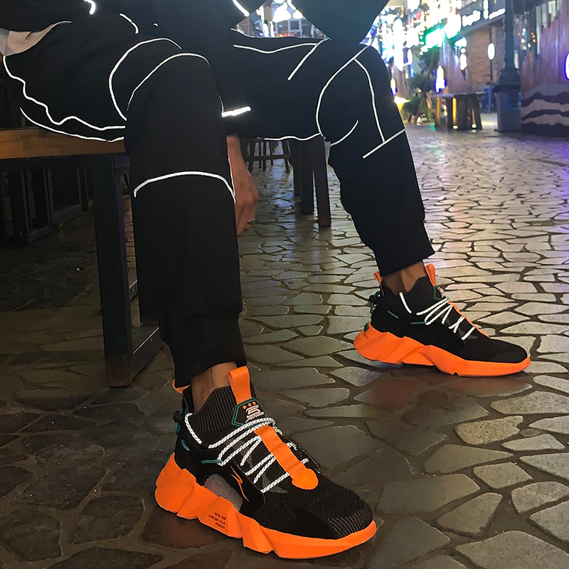 Vip Link Low Top Breathable Sneakers High Street Men Fashion Shoes Night Running Stable Sock Zapatillas