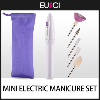Mini Electric Nail Drill Apparatus for Manicure Gel Cuticle Remover Pedicure Machine Milling Bits Set Polishing Cutters - discount item  30% OFF Nail Art & Tools