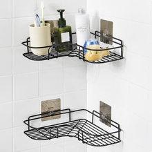 Треугольная полка держатель для ванной комнаты кухонная из нержавеющей
