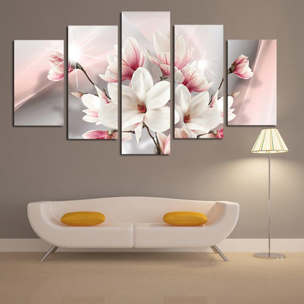 5pcs Oil Paintings Modern Framed Giclee Canvas Print Artwork for Home Decor Gift