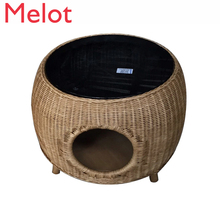 Indonesia Rattan Weaving Tea Table Tea Table Circular Cat Nest Simplicity Modern Small Round Table European Style Short Table