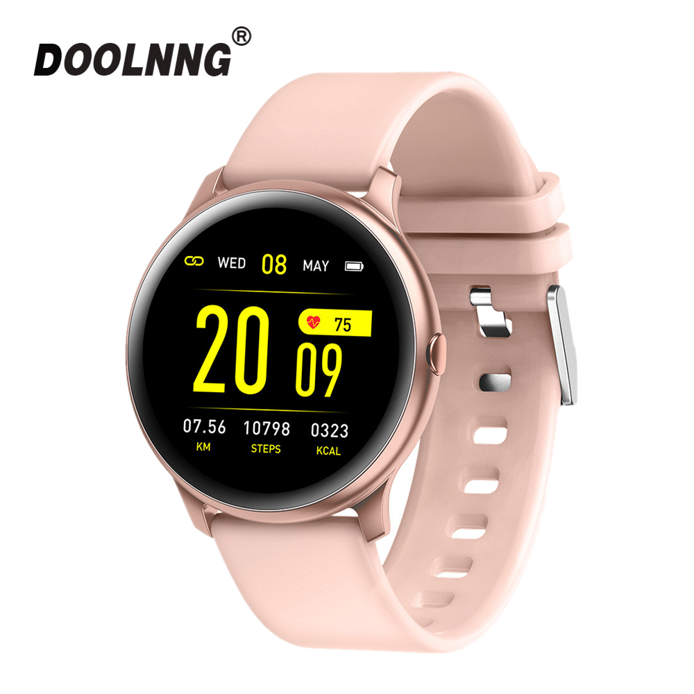 Doolnng <font><b>Women</b></font> <font><b>Smart</b></font> <font><b>watch</b></font> Men Heart Rate Monitor Blood Oxygen Fitness Tracker <font><b>KW19</b></font> Smartwatch For IOS Android Xiaomi Phone image