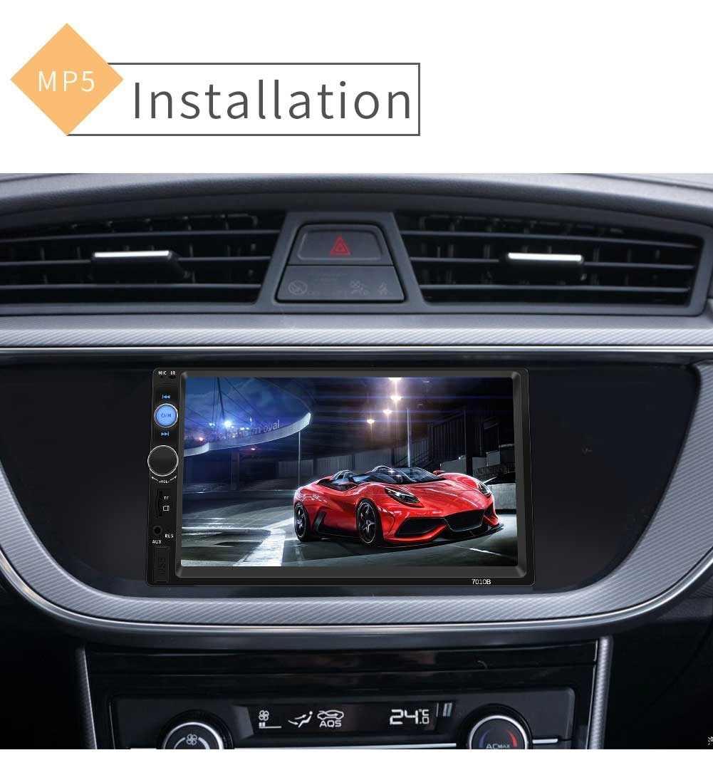 """2 الدين راديو السيارة 7 """"HD لاعب MP5 شاشة تعمل باللمس شاشة ديجيتال بلوتوث ستيريو الوسائط المتعددة USB 2din Autoradio رصد النسخ الاحتياطي"""