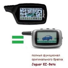 Rússia versão ez-beta chaveiro para jaguar ez-beta lcd remoto em dois sentidos sistema de alarme de carro chave fob remoto iniciar alerta de segurança