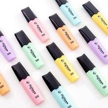 Mini marqueurs pastels en couleur macaron 6 couleurs, marqueurs de mise au point à texte unique pour l'école et le bureau
