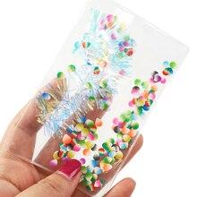 10 шт. Прозрачная ПВХ пакет шейкер сумка для DIY волос Луки проектов, 10Yc7877