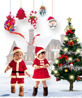 New fashion children's Christmas service Europe and America Santa Claus clothes for boys and girls Christmas costumes