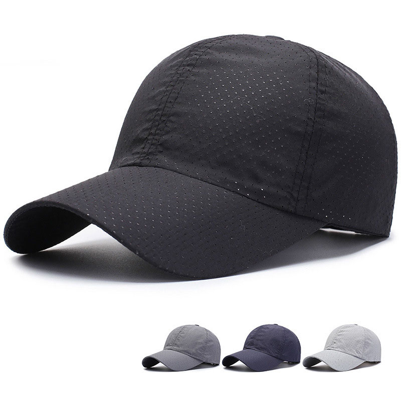 1pcs 2020 Baseball Cap Unisex Summer Solid Thin Mesh Portable Quick Dry Breathable Sun Hat Golf Tennis Running Hiking Camping