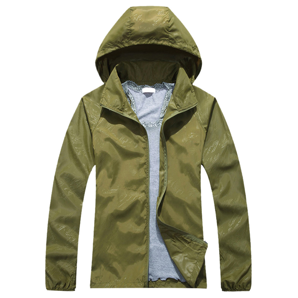Fashion Fall Women Men Waterproof Windproof Jacket Outdoor Sports Quick Dry Coat