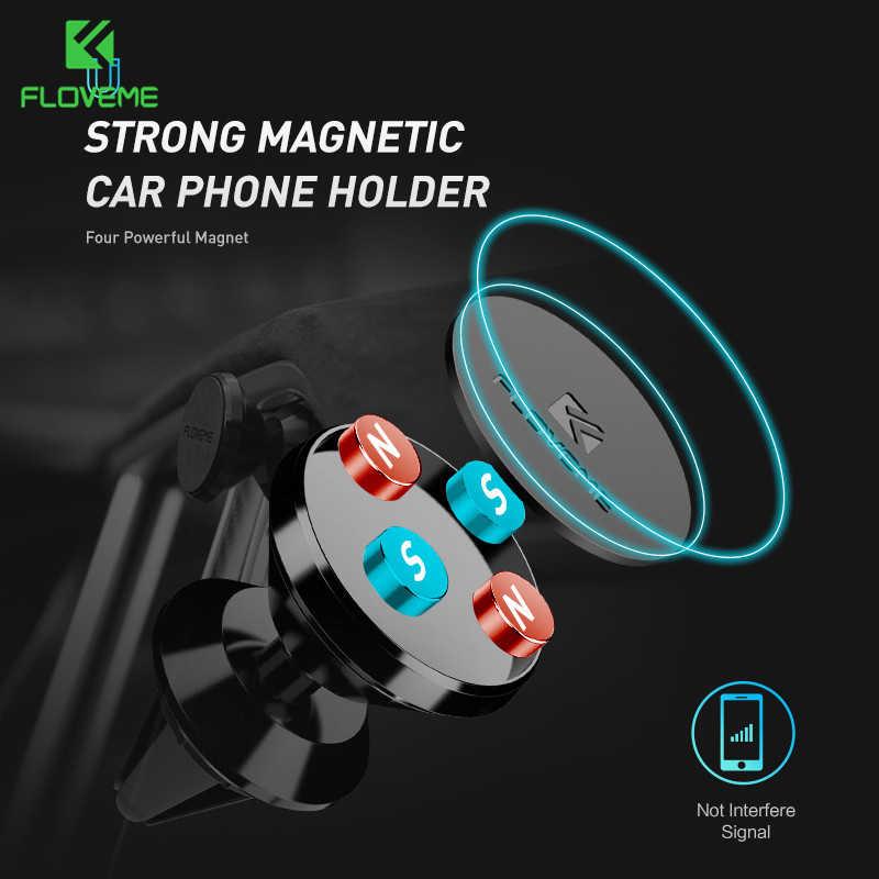 FLOVEME מגנטי רכב מחזיק טלפון לשקע אוויר הר מגנט טלפון בעל מכוניות עבור Samsung A70 A50 רכב נייד stand תמיכה