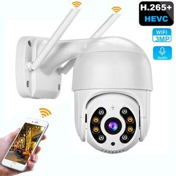 3MP PTZ cámara inalámbrica WiFi IP Auto AI detección humana vídeo CCTV cámara de seguridad de vigilancia H.265 + ONVIF Audio IR a todo Color