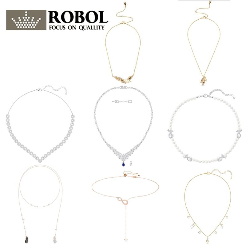 High Quality Original SWA XL039 Necklace With Original Engraved Rhinestones Elegant Luxury Ladies Necklace Woman Jewelry Gift