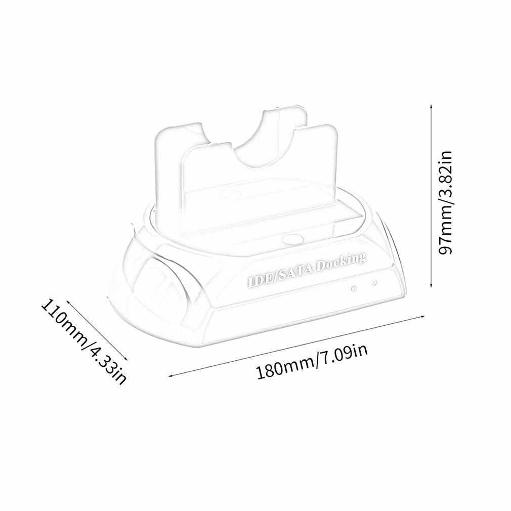 الولايات المتحدة/الاتحاد الأوروبي مريحة 2.5 بوصة 3.5 بوصة IDE SATA USB 2.0 المزدوج HDD قرص صلب محطة إرساء قاعدة دعم قرص صلب يمكن ONLENY