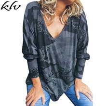 Women's Batwing Sleeve V Neck Camo Print Casual Oversized Camouflage Top camo print mixed