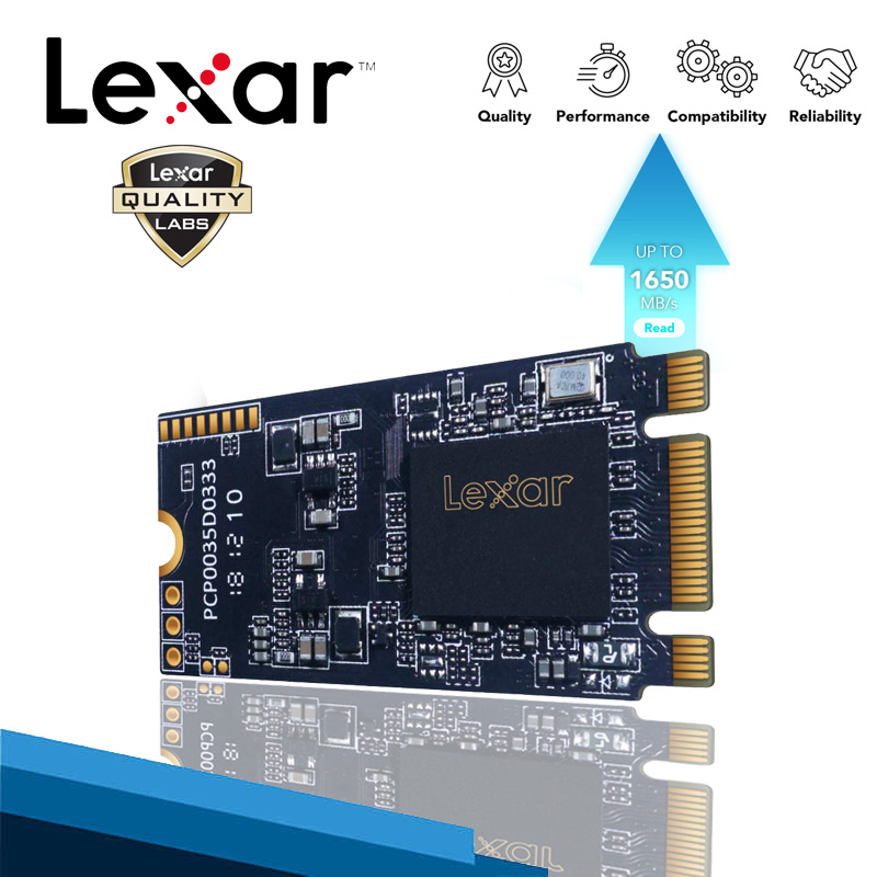 Lexar NVME <font><b>SSD</b></font> <font><b>512GB</b></font> 256GB 128GB <font><b>M.2</b></font> <font><b>2242</b></font> Hard Disk Disco Solido M2 pcie name with HDD Enclosure For Notebook Desktop Dropship image