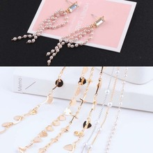 1meter diy handmade accessories genuine gold plating pearl love circle chain necklace bracelet earring material