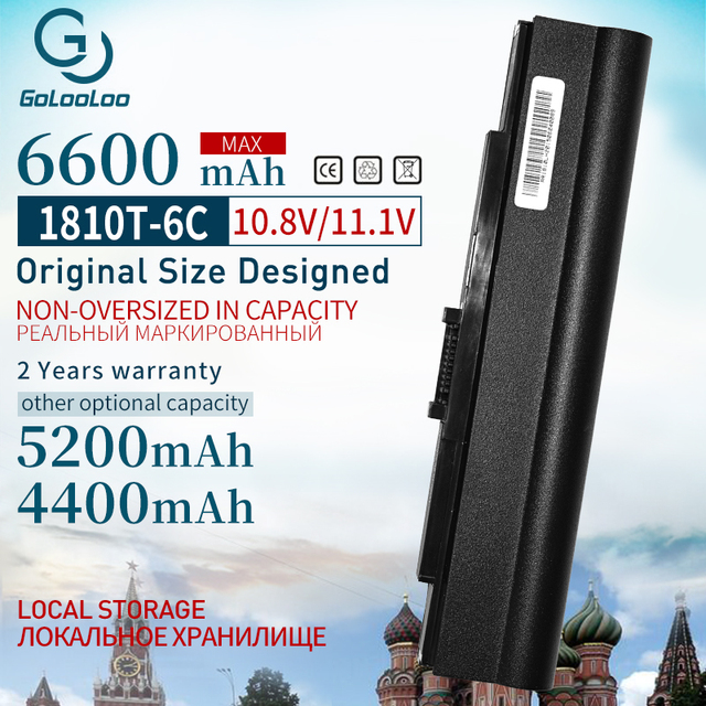 6600MAh bateria Do Portátil para Acer Aspire One 521 752 752H Para Timeline 181 AS1410 1410 1410T 1810T 1810TZ UM09E31 UMO9E75 UMO9E78