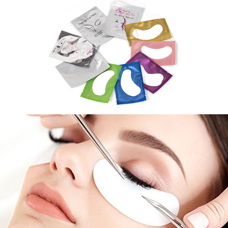 NEWCOME 100pairs/Lot Eyelash Extension Eye Pad Patches Under Pads Paper Lint free Stickers make Up