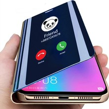 Luxury Mirror Flip Cover For OPPO Realme 7 7i 6i 5i 6 5 Pro C3 X7 X50 XT Reno 2 3 4 Pro A52 A72 A31 A92 A5 A9 A3 2020 A11X case
