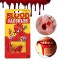 Хэллоуин косплей вампир Искусственный Поддельный съедобный плазма крови реквизит супер настоящая рвота съедобная целлюлоза Хэллоуин вече...