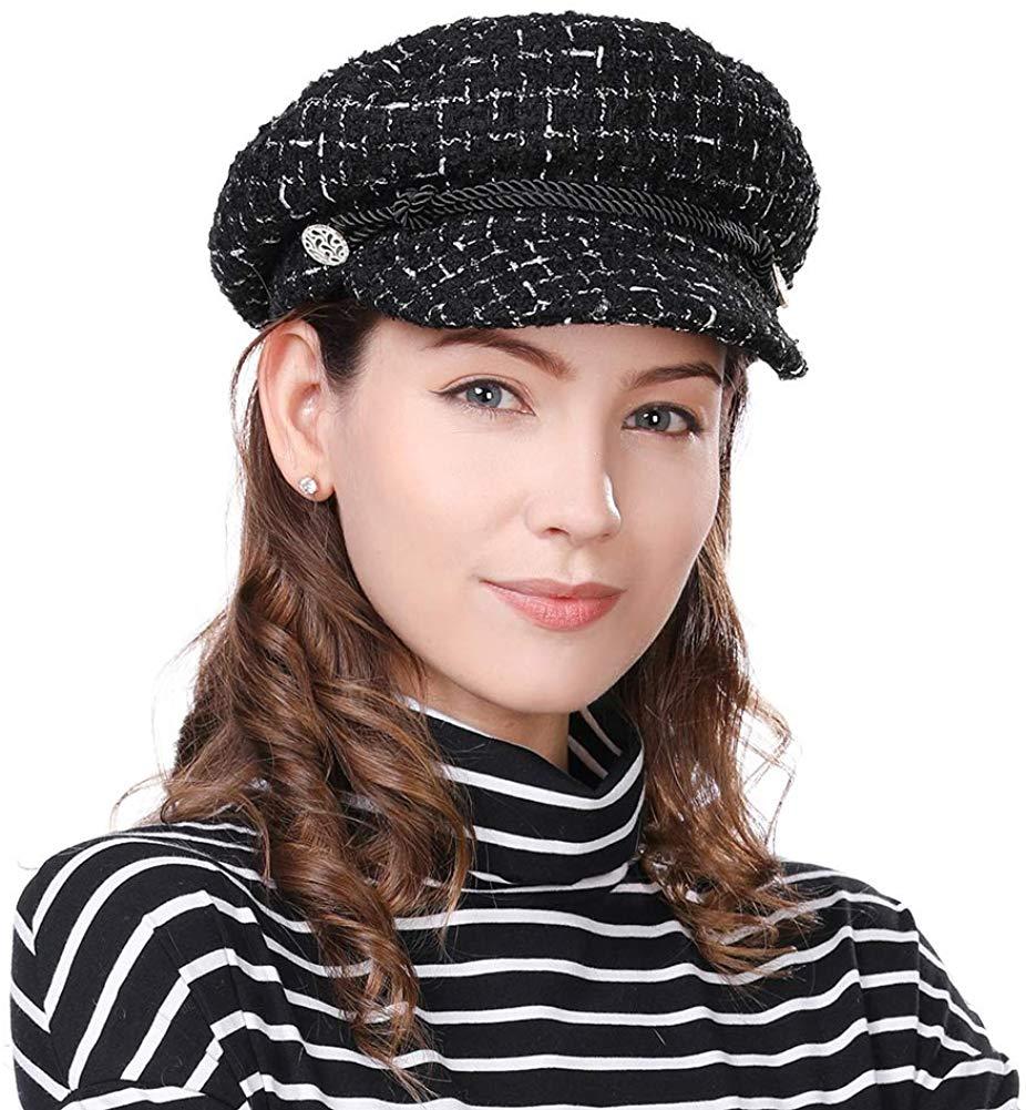 inverno moda cabbie chapéu forrado