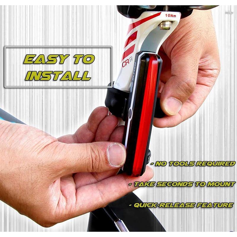Biciklete e riciklueshme e dritës për biçikleta USB Cikli i - Çiklizmit - Foto 4
