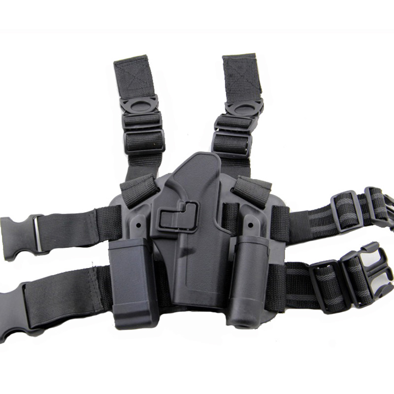 Black Glock Gun Holster Tactical Airsoft Combat Thigh Holster Platform Hunting Accessories Gun Case For Glock 17 19 22 23 31 32