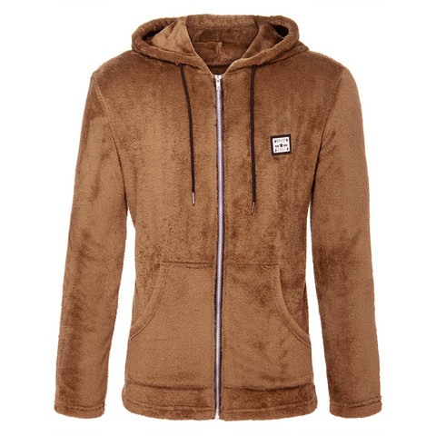 Mens New Fashion Casual Zipper Loose Double-Sided Plush Hooded  Jackets Clothing US Size Up to 3XL Hip Hop Slim Fit Pilot Coat Lahore