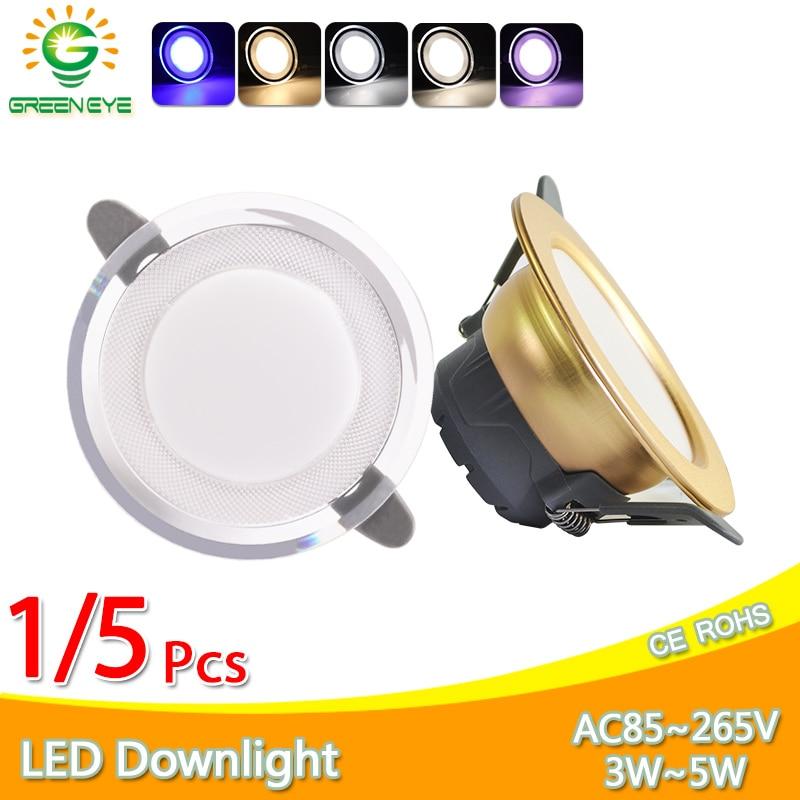 1/5Pcs Led Downlight 3W 5W 3000k 4000k 6500k Downlight AC220V-240V Led Ceiling Downlight Kitchen Living Room Indoor Round Light