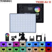 Yongnuo yn300 ar ii yn300air ii YN-300 ar pro 3200k-5500k rgb conduziu a luz de vídeo da câmera para canon nikon sony