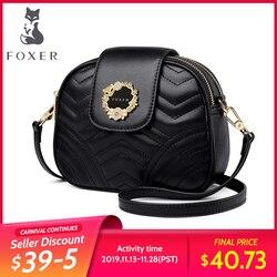 FOXER, мини женская сумка, женская сумочка высокого качества, женская брендовая кожаная шикарная сумка через плечо, женская сумка на плечо, под...