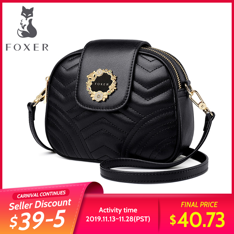 FOXER Mini Women Bag Ladies High Quality Purse Women Brand Leather Chic Crossbody Bag Female Shoulder Bag Valentine's Day Gift