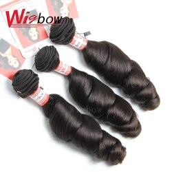 Wigbow onecut onda solta cabelo peruano tecer pacote 100% pacotes de cabelo humano 3/4 pacotes de extensão do cabelo remy 8-28 30 polegadas p