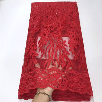 Embroidered Nigerian Laces Fabric African Wedding Lace Fabric Bridal High Quality French Tulle Lace Fabric For Party