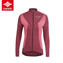 Jacket Cycling-Jersey Bicycle-Clothing MTB Mountain-Bike Long-Sleeve Santic Winter Women