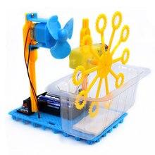 Crianças educacional diy máquina de bolha automática ciência experimento kits brinquedos educativos