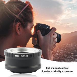 Image 4 - Para M42 EOS m adaptador de montagem anel lente da câmera adaptador anel para canon acessórios m42 lente para canon EF M mirroless câmera