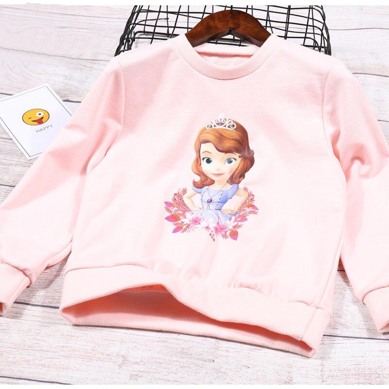 Frozen Elsa Anna Girls Spring//Autumn Red Cotton Hoody Jumper 2-3 Years left