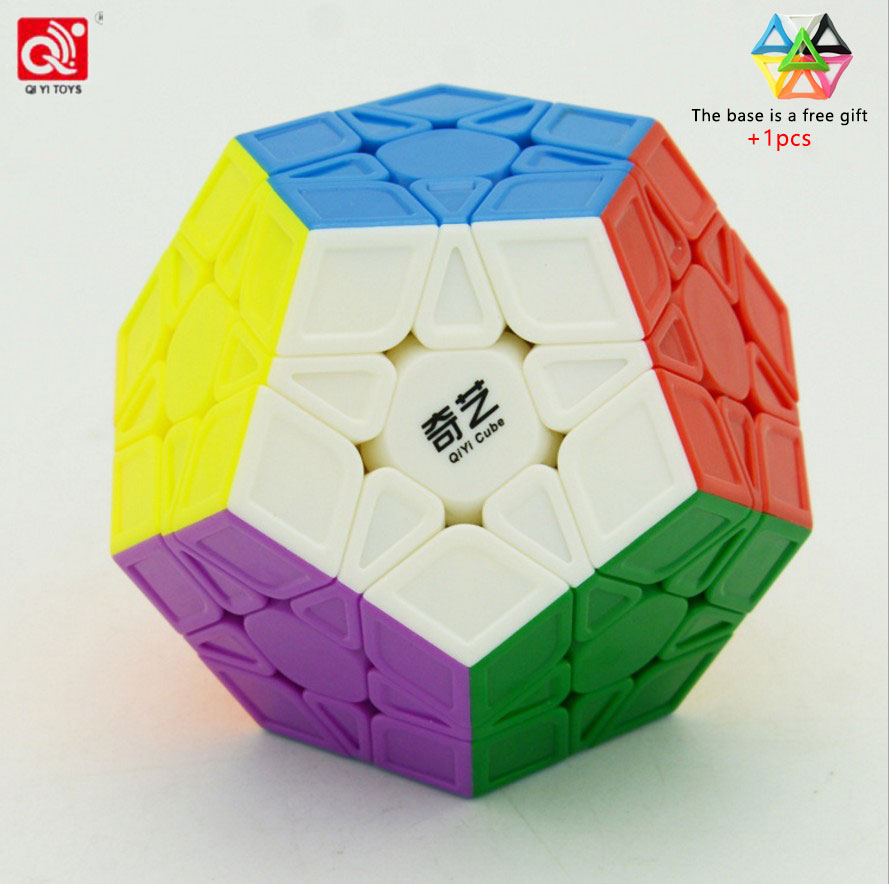 3x3 Megaminx Sticker Magic Cube Dodecahedron Speed Cubes Brain Teaser Puzzle Toy