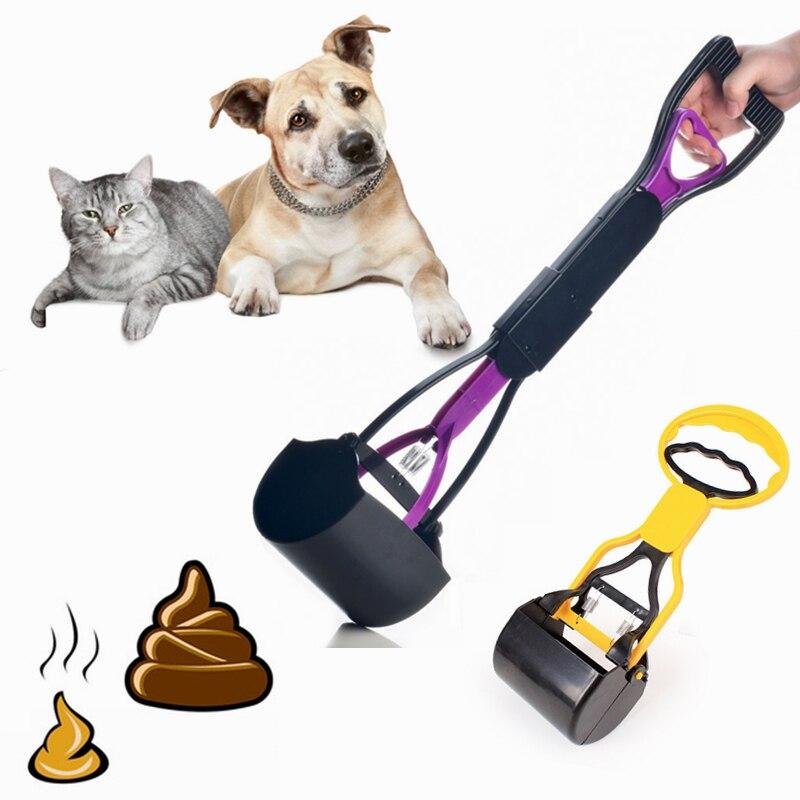 Pet Pooper Scooper Long Handle Jaw Poop Scoop Clean Pick Up Animal Waste Dog Puppy Cat Waste Picker Cleaning Tools Outdoor