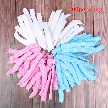 100pcs Disposable Microblading Non Woven Fabric Permanent Makeup Hair Net Caps Sterile Hat For Eyebrow Tattooing Catering Hat