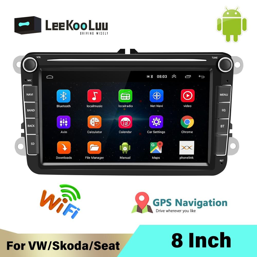 LeeKooLuu 2 Din Android радио для VW /Volkswagen Skoda Superb Октавия Рапид Yeti Golf toureg passat B6 polo Jetta автомобильный мультимедиа