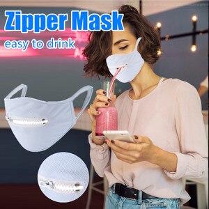 Многоразовые моющиеся защитные маски для мужчин и женщин на молнии для мужчин на молнии для лица легко пить респиратор ткань Facemask masque lavable