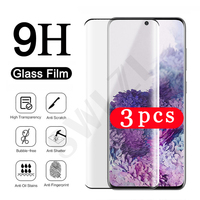 3-1Pcs full glue phone screen protector for Samsung Galaxy S21 ultra plus S20 FE S7 edge S8 S9 S10 plus lite S10E tempered glass