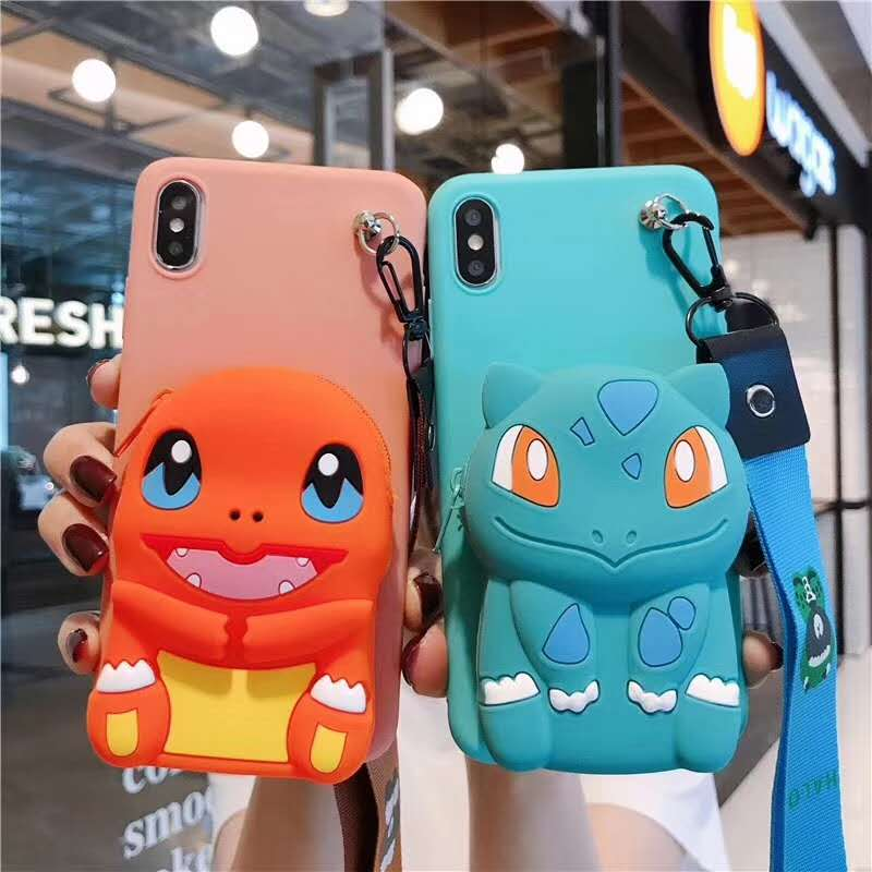 3D Cartoon Zipper <font><b>Wallet</b></font> Soft <font><b>Case</b></font> For <font><b>OPPO</b></font> Realme 5 3 Pro XT X2 X A9 A5 2020 A8 A91 A71 A1K F7 <font><b>A5S</b></font> F11 R17 Pro Reno Z 2Z F9 K1 image