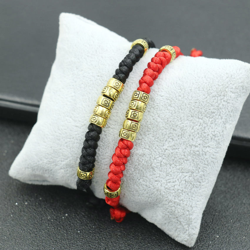 Retro Couples Bracelet Men Red Rope Thread Braid Bracelet Tibetan Ethnic Meditation Chakra Bracelets For Women Men Jewelry Gift