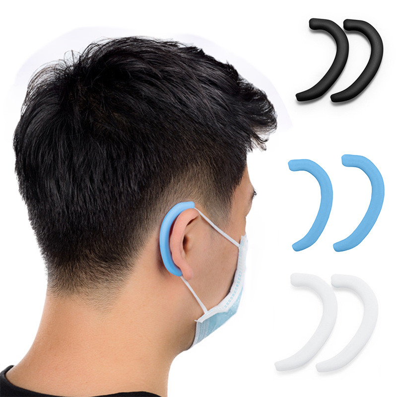 Silicone Anti Pain Earmuffs Protector Soft Protective Ears Mask Rope Cover Band Cover Mask Accessories 1Pair=2pc